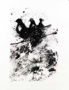 リトグラフ Barcelo - Les pigeons