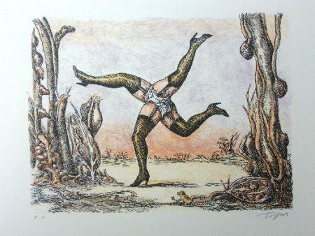 リトグラフ Topor - Les quatre jambes