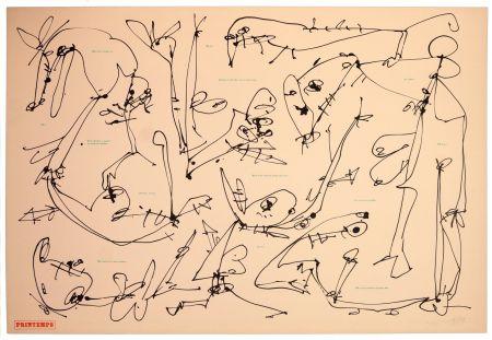 リノリウム彫版 Saura - Les quatre saisons, Printemps