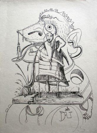リトグラフ Dali - Les Songes Drolatiques De Pantagruel 11