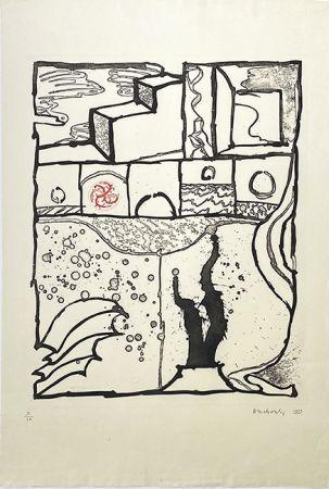彫版 Alechinsky - Les trois marches