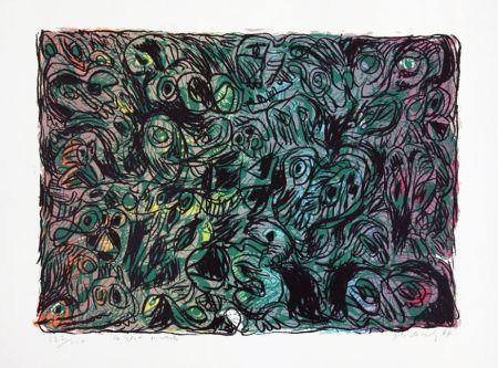 リトグラフ Alechinsky - Les yeux ouverts