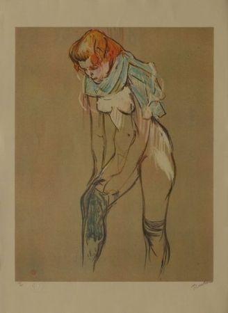 リトグラフ Toulouse-Lautrec - L'Essayage des bas I
