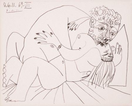 リトグラフ Picasso - L'etreinte Vii