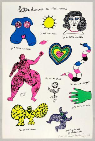 シルクスクリーン De Saint Phalle - Lettre d'amour à mon amour