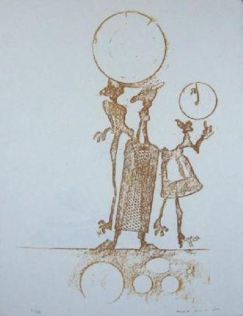 リトグラフ Ernst - Lewis Carrol's Wunderhorn 18