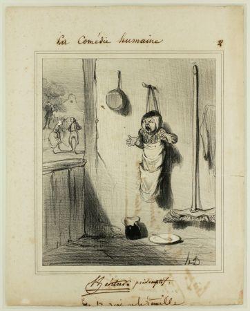 リトグラフ Daumier - L'Héritier présomptif