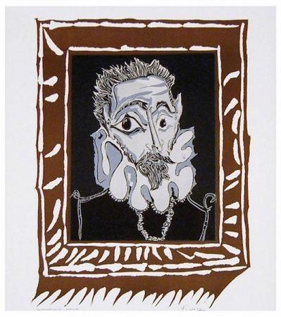 リトグラフ Picasso - L'Homme à la Fraise (Man with Ruff)