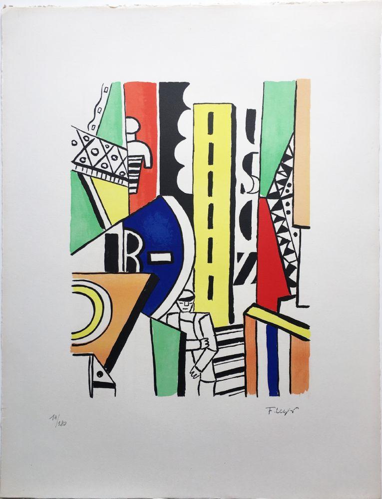 リトグラフ Leger - L'HOMME DANS LA VILLE (1959).