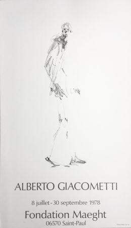 掲示 Giacometti - L'HOMME QUI MARCHE. Fondation Maeght du 8 juillet au 30 septembre 1978.
