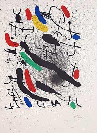 リトグラフ Miró - Liberté des libertés
