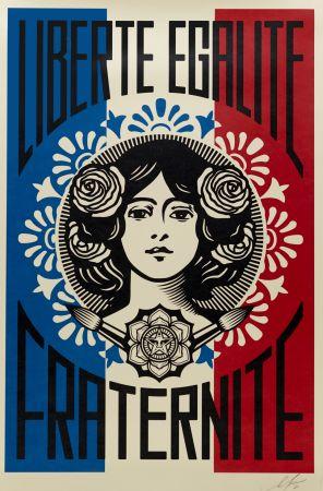 リトグラフ Fairey - Liberté, Egalité, Fraternité