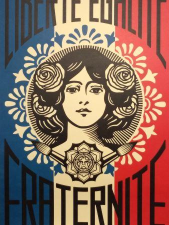 リトグラフ Fairey - Liberte