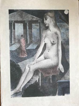 シルクスクリーン Delvaux - L'Idole