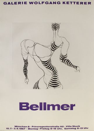 彫版 Bellmer - Liegende In Strümpfen