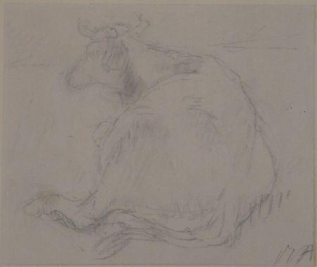 技術的なありません Auberjonois - Liegende Kuh / Reclining cow