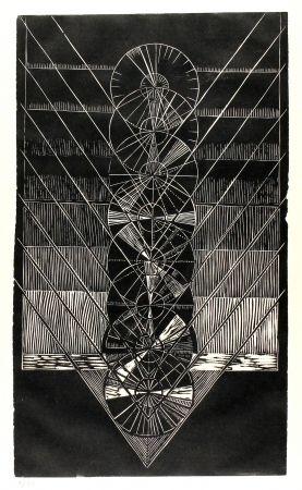 リノリウム彫版 Klien,  - Light in Glass I