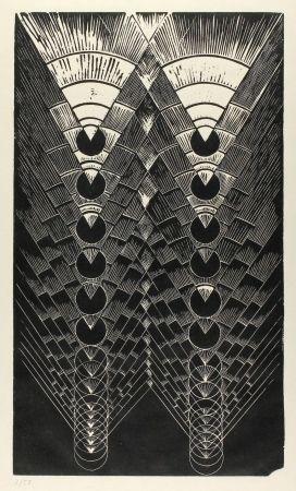 リノリウム彫版 Klien,  - Light in Glass II