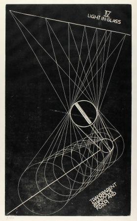 リノリウム彫版 Klien,  - Light in Glass IV