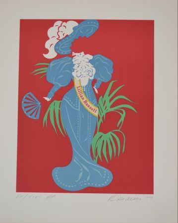 リトグラフ Indiana - Lilian Russell - Mother of us all portfolio