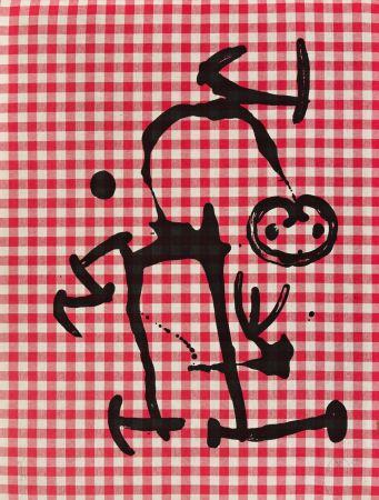リトグラフ Miró - L'Illetre aux Carreaux Rouges