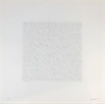 リトグラフ Lewitt - Lines of One Inch Four Directions Four Colors