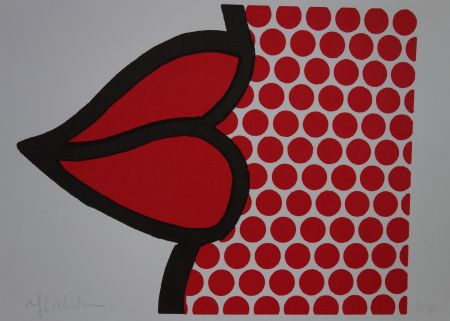 シルクスクリーン Lichtenstein - Lips
