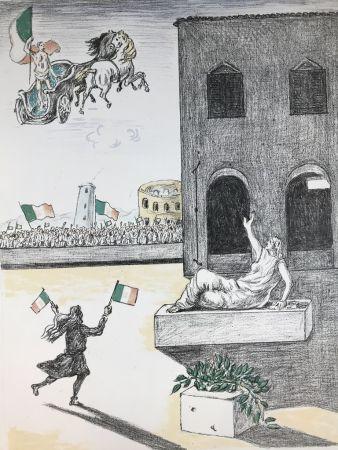 リトグラフ De Chirico - L'Italia del centenario
