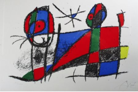 リトグラフ Miró - Lithograph Vi From Vol. Ii