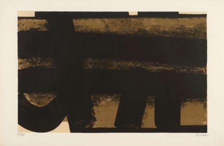 リトグラフ Soulages - Lithographie 35 – 1974