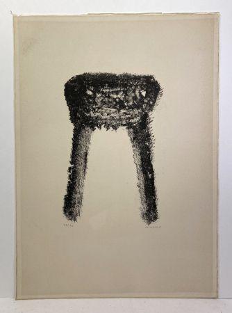 リトグラフ Michaux - Lithographie en noir