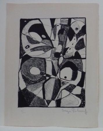 リトグラフ Poliakoff - Lithographie en noir n°1