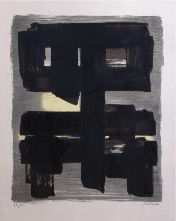 リトグラフ Soulages - Lithographie n°1