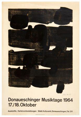 リトグラフ Soulages - Lithographie n°12, 1964. Signée.