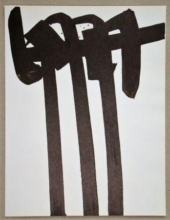 リトグラフ Soulages - Lithographie N°28