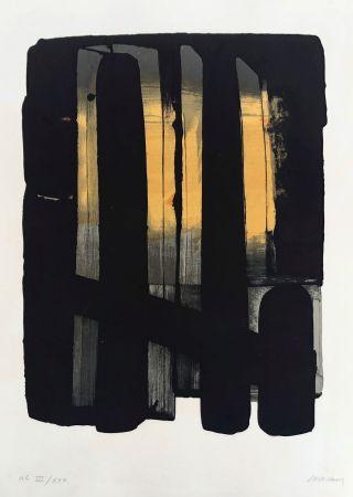 リトグラフ Soulages - Lithographie n°38
