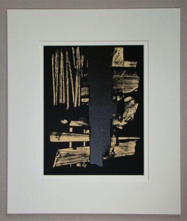 リトグラフ Soulages - Lithographie N°9