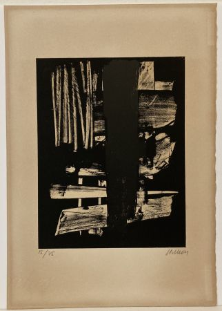 リトグラフ Soulages - Lithographie n° 9, 1959. Signée et numérotée.