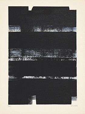リトグラフ Soulages - Lithographie No. 32a