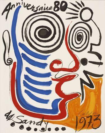 リトグラフ Calder - Lithographie sur vélin d'Arches. Signée