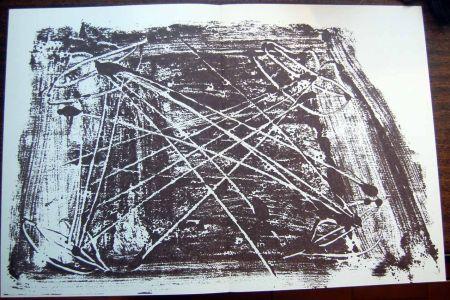リトグラフ Tapies - Litografia Original Derriere Le Miroir - 1974