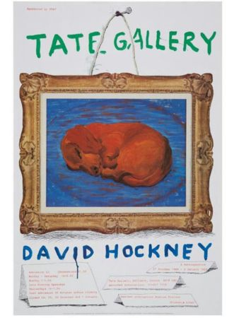 掲示 Hockney - Little Stanley Sleeping Tate Gallery