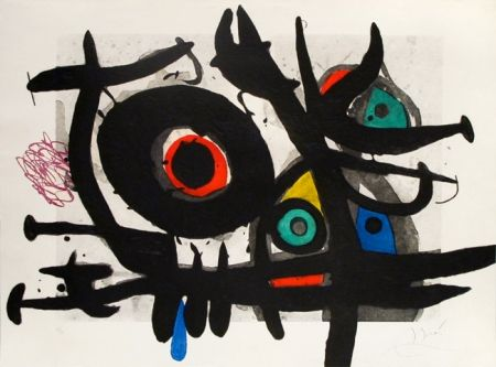 彫版 Miró - L'oiseau Destructeur