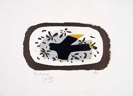 リトグラフ Braque - L'oiseau D'octobre