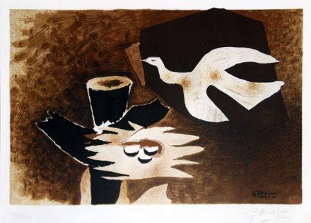 リトグラフ Braque - L'oiseau et son nid (The Bird and Its Nest)