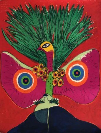 リトグラフ Corneille - L'oiseau papillon