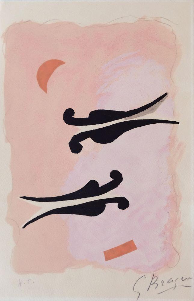 リトグラフ Braque - L'Oiseaux - La nuit - La faim