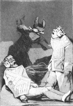 エッチングと アクチアント Goya - Los chinchillas