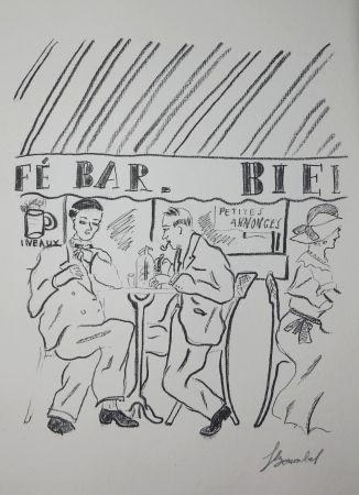 彫版 Bonabel - Louis-Ferdinand Céline - Gravure Originale - Voyage au Bout de la Nuit