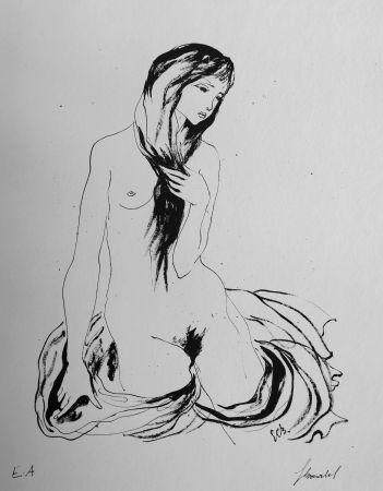 リトグラフ Bonabel - Louis-Ferdinand Céline - LA DANSEUSE NUE / THE NUDE DANCER  - 1944